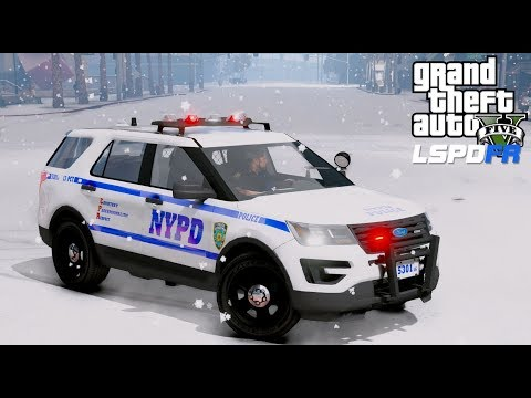 GTA 5 LSPDFR Police Mod #594 NYPD Patrol During A Blizzard - State Of Emergency Declared Due To Snow