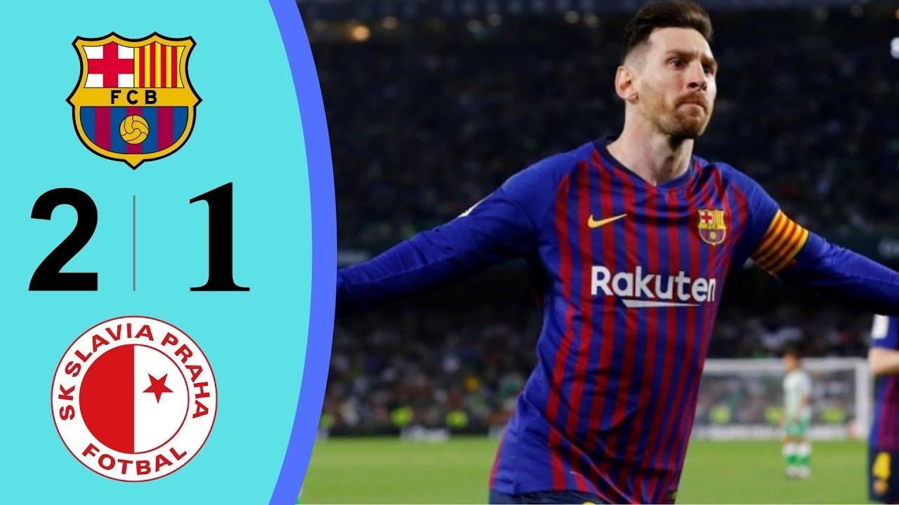 Barcelona vs. Slavia. Highlights & Goals Resumen & Goles 2019 HD