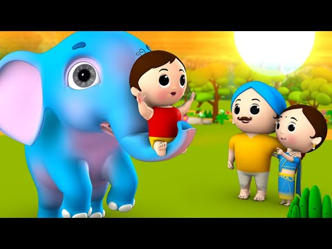 Munna's Guardian Elephant Hindi Story - मुन्ना का रखवाला हाथी 3D Animated Moral Stories Fairy Tales