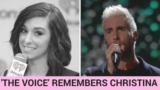adam levine performs moving tribute to christina grimmie on the voice