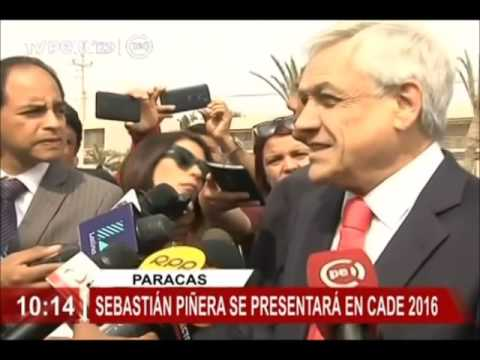 """Sebastián Piñera: """"Perú tiene la gran oportunidad de dar el salto hacia el desarrollo"""""""