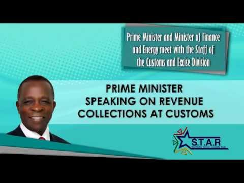 Prime Minister Keith Mitchell tours Ministry of Finance -- Customs and Excise Division (part 1)