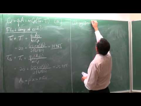 Lecture 19 (2013). 8.4 General thermal analysis of Chapter 8 on internal convection