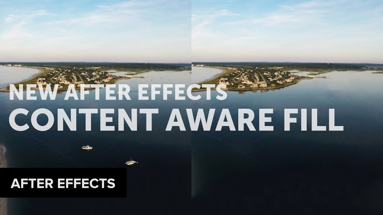 New Content Aware Fill Inside After Effects 16 1