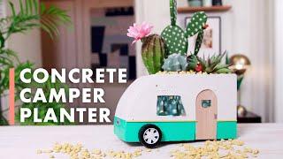 DIY Concrete Vintage Camper Planter - HGTV Handmade