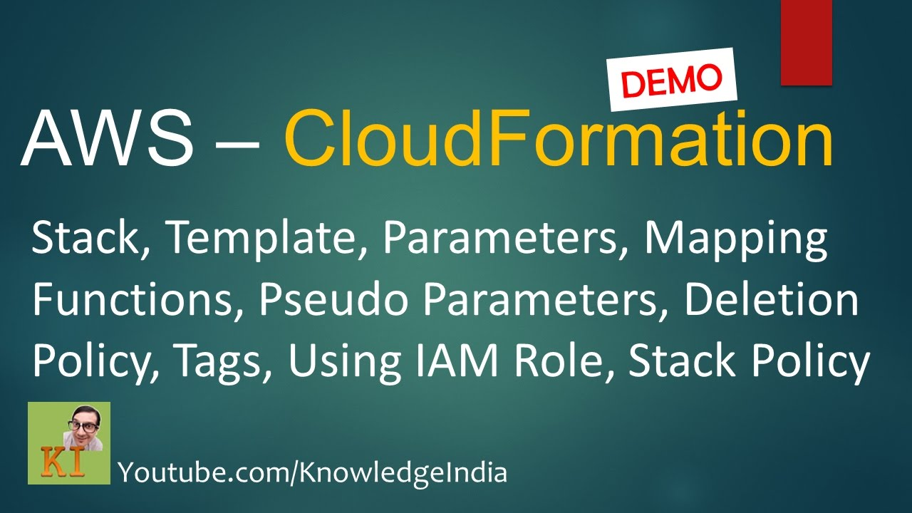 Aws Cloudformation Demo Stack Template Parameters Mapping Iam