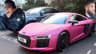 PUBLIC REACTION TO MY PINK AUDI R8!!