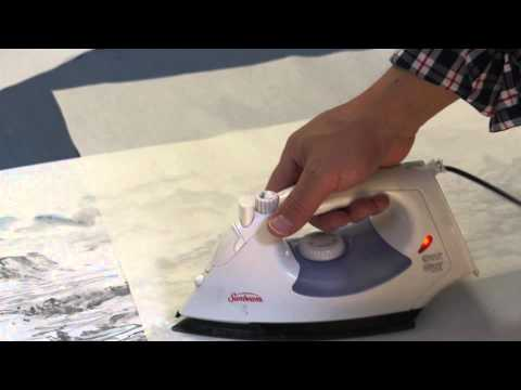 How to Dry Mount a Large Painting Strip with Silicone Paper
