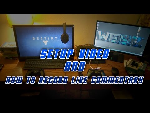 YouTube Setup Video and How to Record Live Commentary with PS4