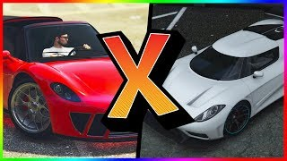GTA V Online: ENTITY XXR Vs. PFISTER 811 l SPEED TEST