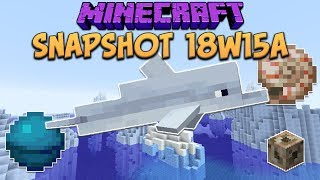 One of xisumavoid's most viewed videos: Minecraft 1.13 Snapshot 18w15a Dolphins! New Biome Water Colors! Heart Of The Sea & Nautilus Shell