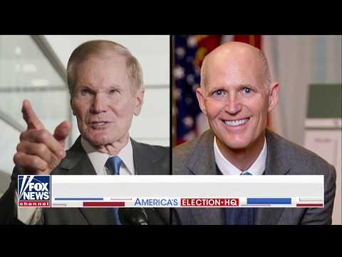 Rick Scott on FL Senate Race: Bill Nelson a 'Puppet' for Pelosi, Schumer