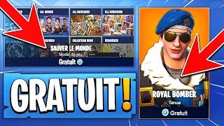 "OBTENIR ""FREE""' the SKIN 'ROYALE BOMBER' on FORTNITE: Battle Royale!!"