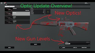 *NEW* Optics in Roblox Bad Business!! (Overview and NEW Gun levels)