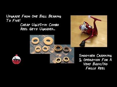 How To Upgrade A Cheap Reel - Inexpensive Reel Upgrades For Cheap UglyStik Combo