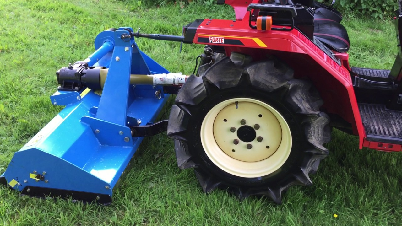 Yanmar F145 4WD Compact Tractor with New 4ft Flail Mower 400 HOURS