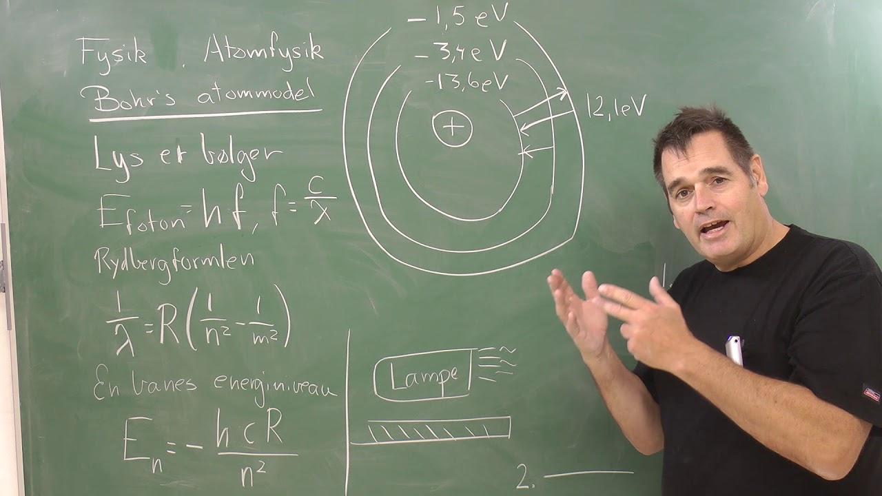 FysikB, eksamen, atomfysik og Bohr