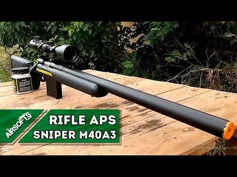 Sniper - Conheça o Rifle Airsoft APS Sniper M40A3 - AIRSOFTS