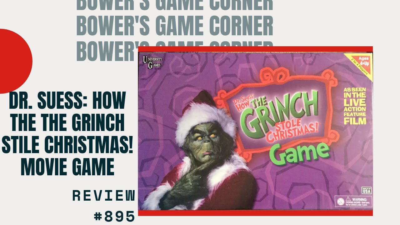 bowers game corner dr seuss how the grinch stole christmas game movie edition review - How The Grinch Stole Christmas Games