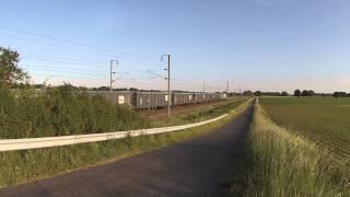 Trains du soir sur le Bourbonnais