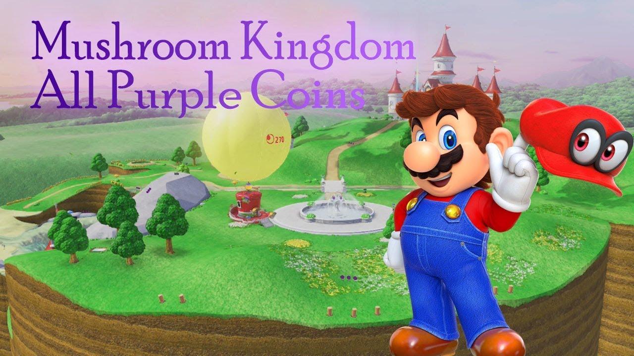 Super Mario Odyssey Mushroom Kingdom All Purple Coins Youtube