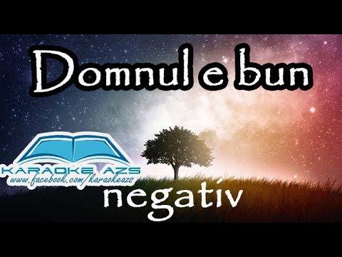 Domnul e bun - Karaoke (negativ)