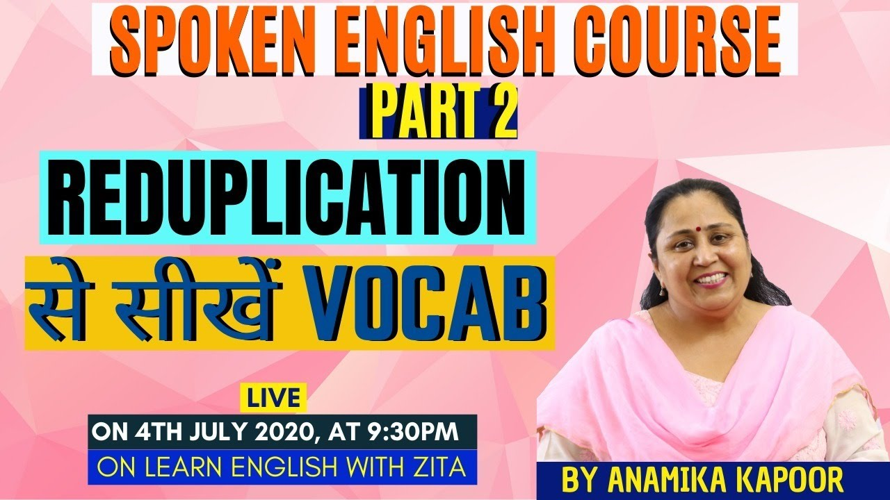 Learn Vocab Fun Way| Different Way Of Learning Vocab| Reduplication| By Vinit Kapoor