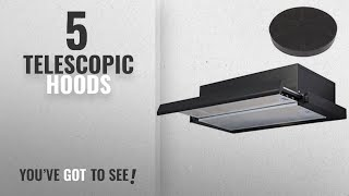 Top 10 Telescopic Hoods [2018]: SIA 60cm Telescopic Integrated Black Cooker Hood Extractor Fan +