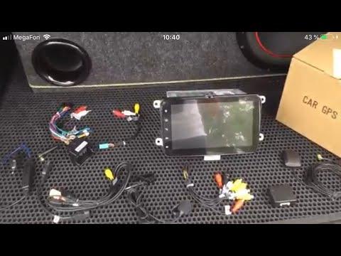 Магнитола на 8 андроиде для Volkswagen и электропривод двери багажника