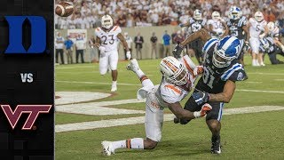 Duke vs. Virginia Tech Football Highlights (2019)