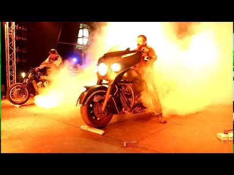 Bulldog Bash 2017 Finale - on stage double burnout