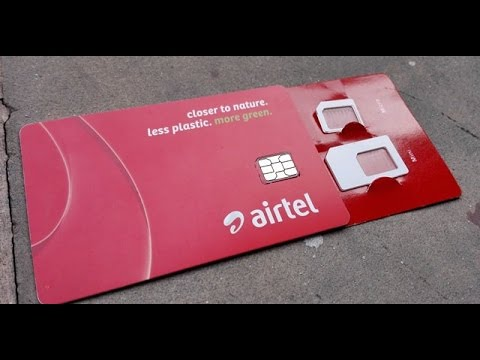 How to convert any sim into Airtel 4G sim to unlimited FREE data(4 JAN 2017) thumbnail