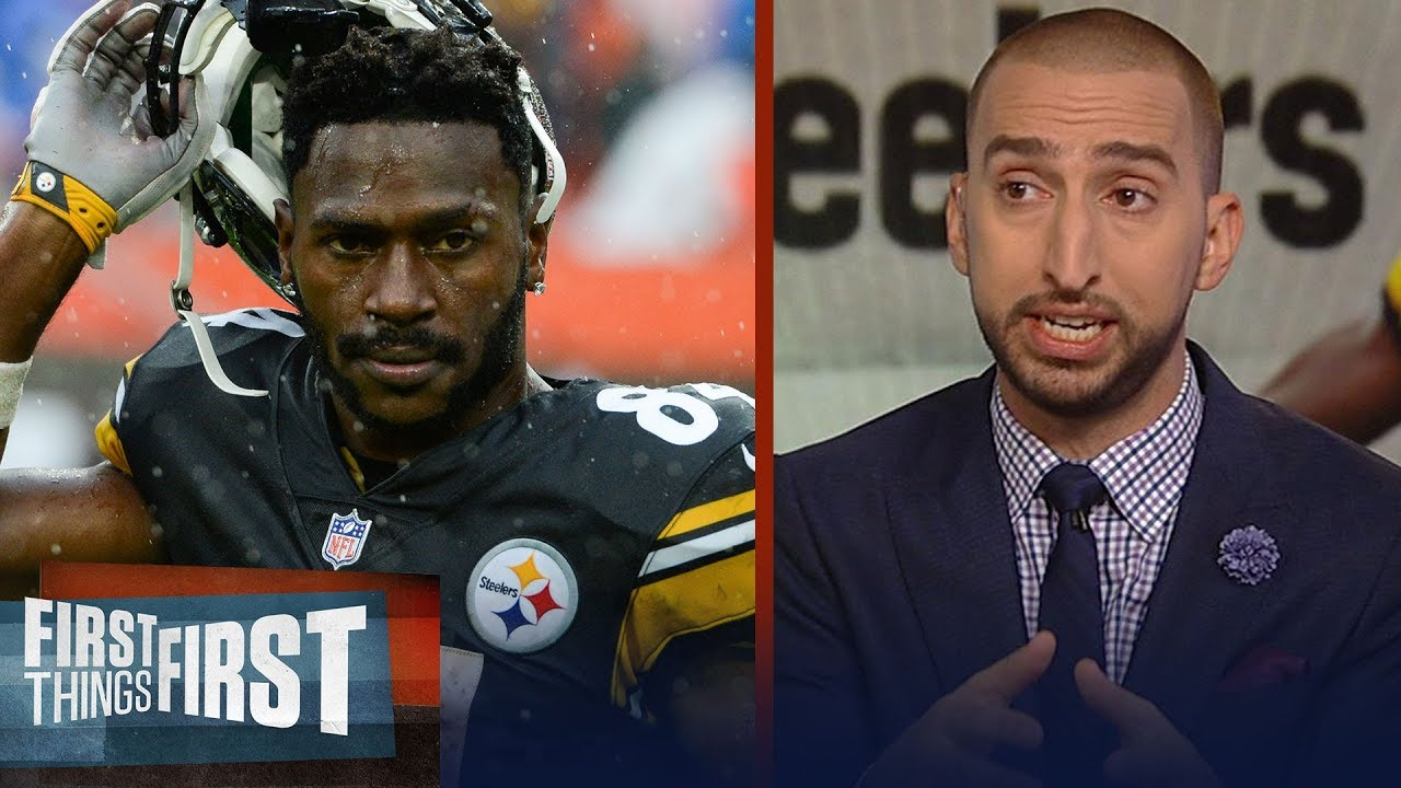 Nick Wright on Antonio Brown addressing the media after 'trade me' tweet | NFL | FIRST THINGS FIRST
