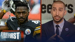 Nick Wright on Antonio Brown addressing the media after 'trade me' tweet   NFL   FIRST THINGS FIRST