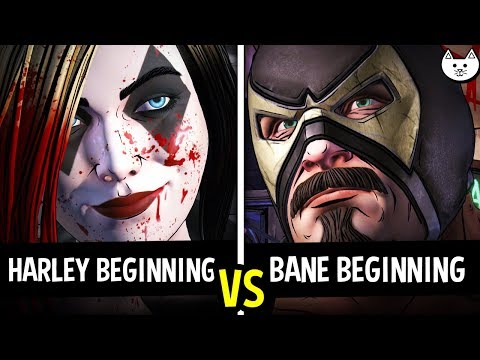 HARLEY BEGINNING vs BANE BEGINNING Episode 3 - Batman The Enemy Within Episode 3 Gameplay Choices
