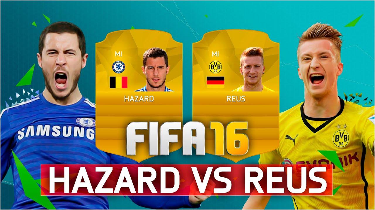 FIFA 16 | HAZARD VS REUS - YouTube