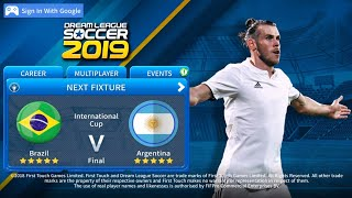 Dream League Soccer 2019 Official Gameplay🔥⚽🔥Brazil 🇧🇷 🆚 🇦🇷 Argentina 🏆 Final Match