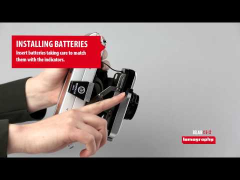 Belair X 6-12 - How to Install the Batteries