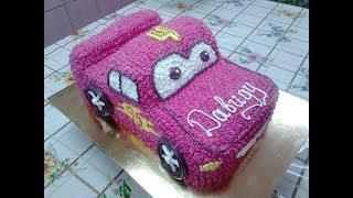 Формируем и украшаем торт Машинка