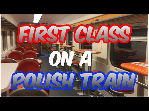 Travelling first class on a Polish Intercity train from Rzeszow to Krakow