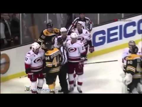 Zdeno Chara fights hits.