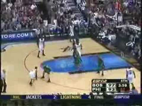 Allen Iverson & C-Webb vs Boston Celtics 3OT Game Highlight