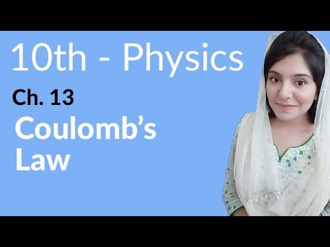 10th Class Physics Ch 13,Coulomb