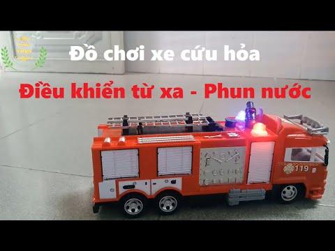 Đồ chơi xe cứu hỏa điều khiển từ xa PHUN NƯỚC