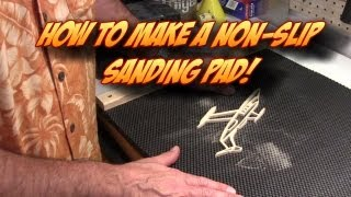 Make A Non-slip Portable Sanding Pad For Scroll Saw Woodworking Projects