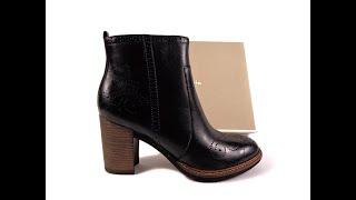 Tamaris 1-25023-37 001 Германия, демисезонные ботинки с декоративной перфорацией . Видео обзор обуви - Видео от Андрей Калаба, видео обзор