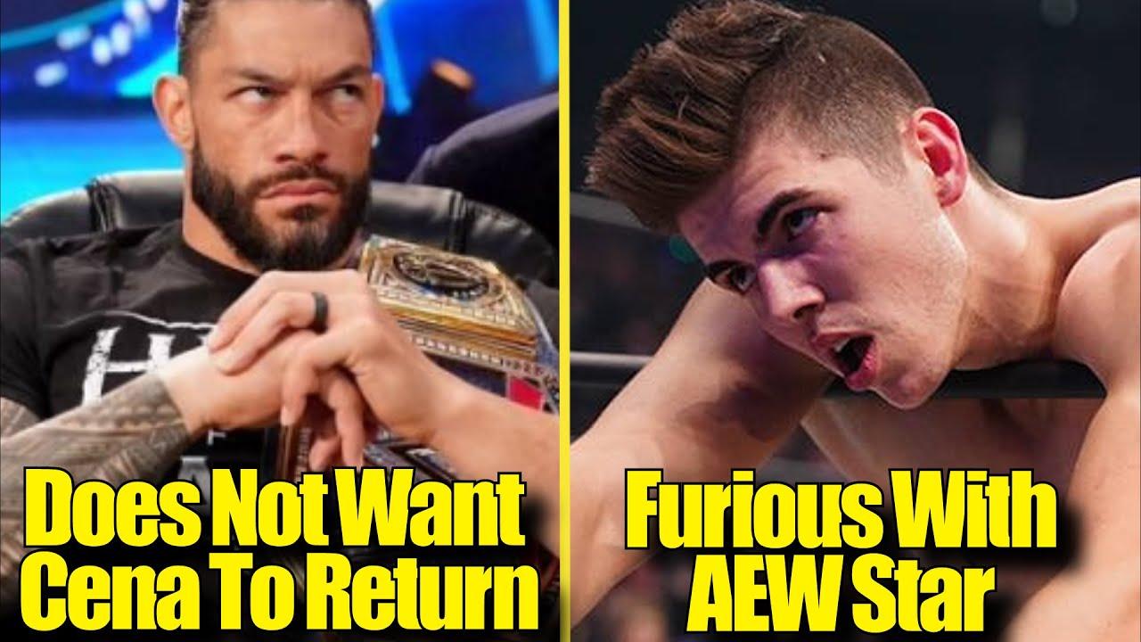 Sammy Guevara FURIOUS! Roman Reigns DOESN'T WANT John Cena BACK?  MJF CROSSED THE LINE?