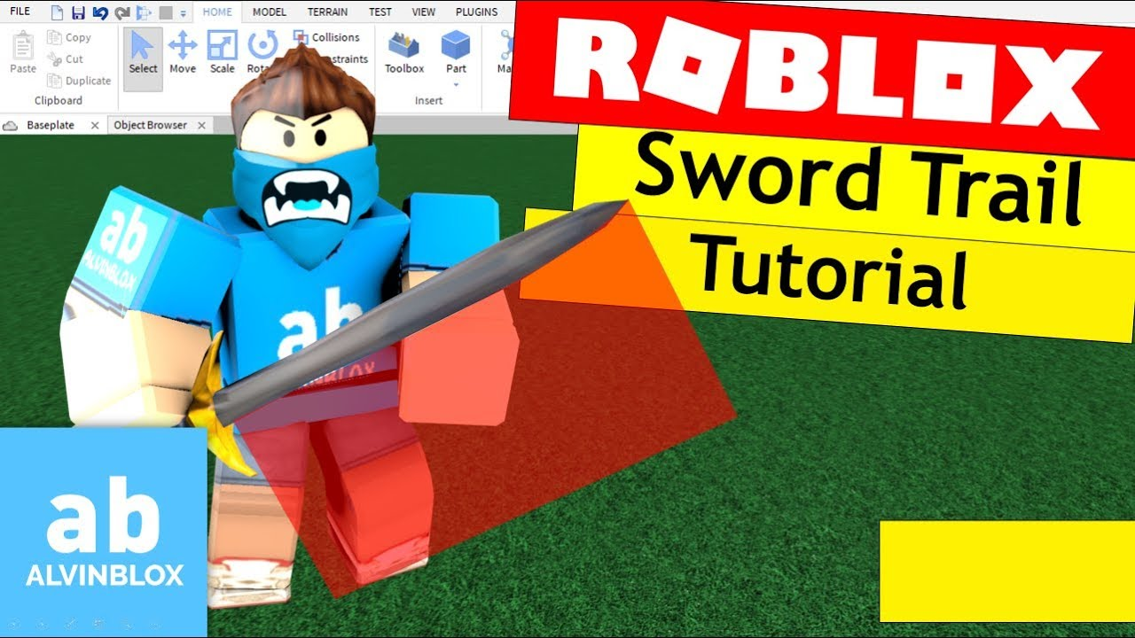 Roblox Sword Trail Tutorial - Add a trail to your sword!