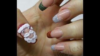 Papa Noel 3D paso a paso / Santa Claus 3D acrylic nails