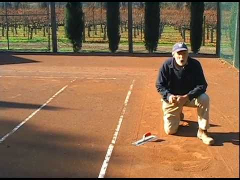 how to build a clay tennis court
